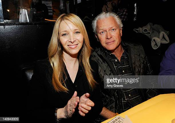 Lisa Kudrow and Michel Stern attend Bingo at The Roxy at The Roxy Theatre on March 7 2012 in West Hollywood California