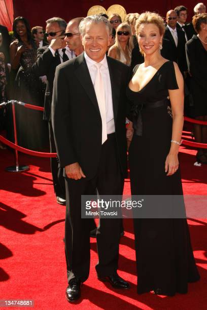 Lisa Kudrow and Michel Stern during 58th Annual Primetime Emmy Awards - Arrivals at Shrine Auditorium in Los Angeles, California, United States.