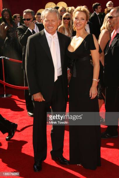 Lisa Kudrow and Michel Stern during 58th Annual Primetime Emmy Awards Arrivals at Shrine Auditorium in Los Angeles California United States