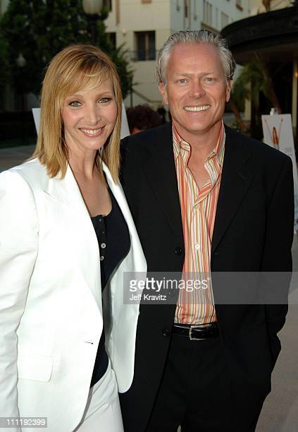 """Lisa Kudrow and Michel Stern during """"The Comeback"""" HBO Los Angeles Premiere - Arrivals at Paramount Theater in Los Angeles, California, United States."""