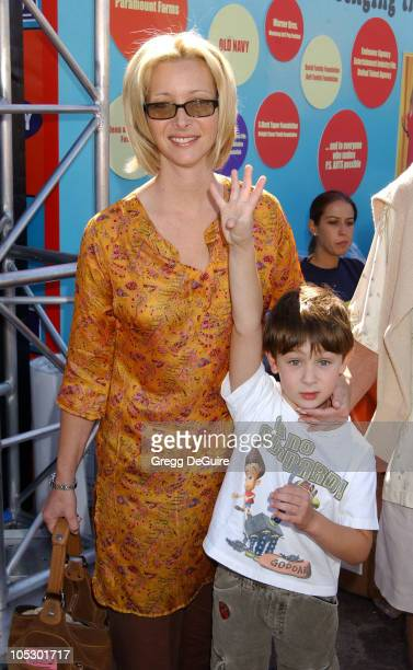 Lisa Kudrow and son Julian during PS ARTS and Old Navy Welcome Celebrities And Their Families to A Creativity Street Fair Benefiting Arts Education...