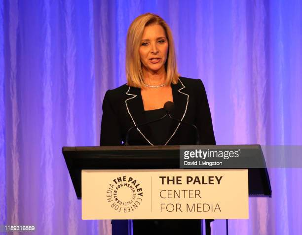 Lisa Kudrow appears on stage at The Paley Honors: A Special Tribute To Television's Comedy Legends at the Beverly Wilshire Four Seasons Hotel on...