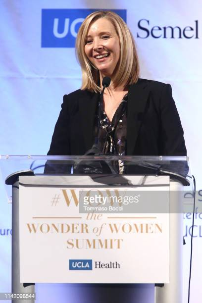 Lisa Kudrow attends the UCLA #WOW The Wonder Of Women Summit at UCLA Meyer and Renee Luskin Conference Center on April 11 2019 in Los Angeles...