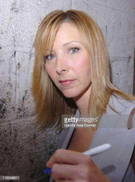 Lisa Kudrow during Lisa Kudrow Arrives at 'Live with Regis and Kelly' July 13 2005 at Lincoln Square in New York City New York United States