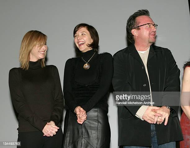 Lisa Kudrow Maggie Gyllenhaal and Tom Arnold during 2005 Sundance Film Festival 'Happy Endings' Premiere Inside at Eccles Theatre in Park City Utah...