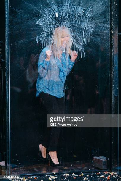 Lisa Kudrow performs in Flinch during The Late Late Show with James Corden Wednesday March 29 2017 On The CBS Television Network