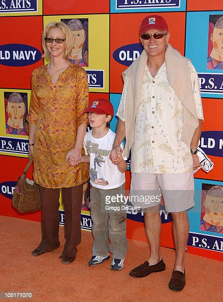 Lisa Kudrow son Julian and husband Michel Stern during PS ARTS and Old Navy Welcome Celebrities And Their Families to A Creativity Street Fair...