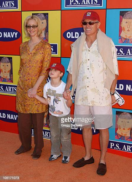Lisa Kudrow, son Julian and husband Michel Stern during P.S. ARTS and Old Navy Welcome Celebrities And Their Families to A Creativity Street Fair...