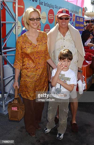 Lisa Kudrow, son Julian and husband Michel Stern