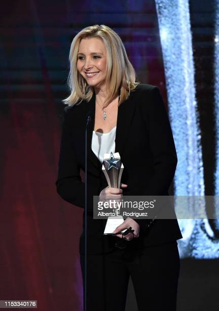 Lisa Kudrow speaks onstage during the Critics' Choice Real TV Awards at The Beverly Hilton Hotel on June 02 2019 in Beverly Hills California