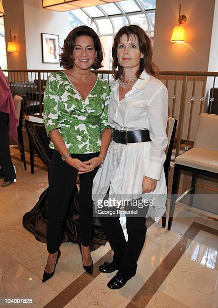 Lisa LaFlamme and Julie Osborne attend the George Christie Luncheon during the 35th Toronto International Film Festival at Four Seasons Hotel on...