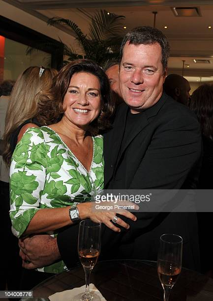 Lisa LaFlamme and Shawn Gibson attend the George Christie Luncheon during the 35th Toronto International Film Festival at Four Seasons Hotel on...