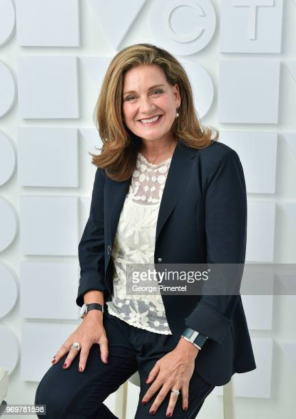 Lisa LaFlamme poses at the CTV Upfronts portrait studio held at the Sony Centre For Performing Arts on June 7 2018 in Toronto Canada