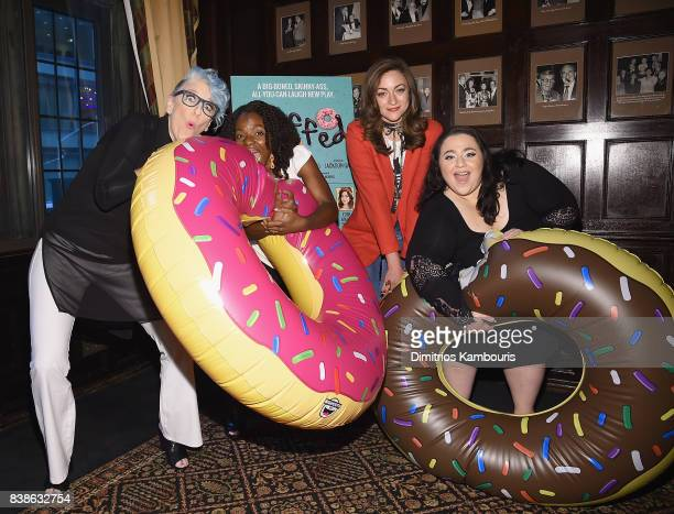 Lisa Lampanelli Marsha Blake Eden Malyn and Nikki Blonsky attend Stuffed Preview Show at The Friars Club on August 24 2017 in New York City