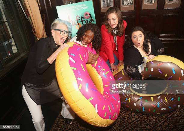Lisa Lampanelli Marsha Stephanie Blake Eden Malyn and Nikki Blonsky pose at a photo call for the new comedy Stuffed at The Friars Club on August 24...