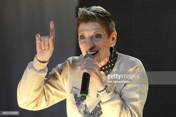 Lisa Lampanelli performs during the Pemberton Music and Arts Festival at on July 19 2014 in Pemberton British Columbia