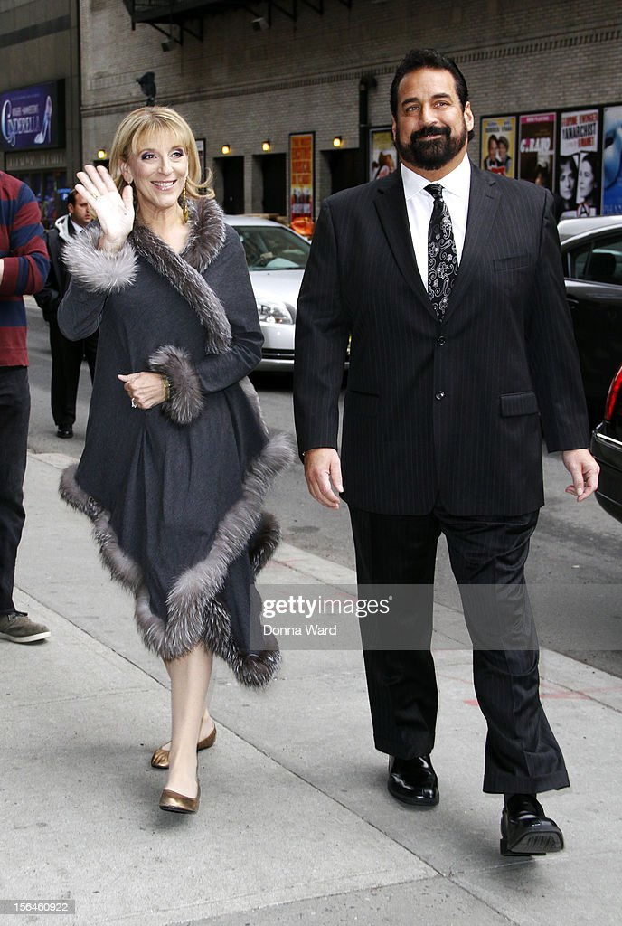 Lisa Lampenelli and Jimmy Cannizaro arrive for 'The Late Show with David Letterman' at Ed Sullivan Theater on November 15, 2012 in New York City.