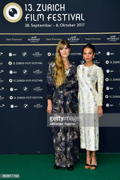 Lisa Langseth and Alicia Vikander attend the 'Euphoria' premiere during the 13th Zurich Film Festival on September 29 2017 in Zurich Switzerland The...