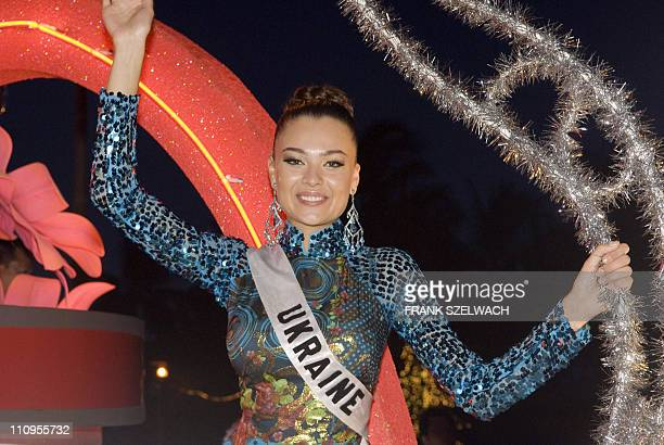 Lisa Lazarus Miss Ukraine participates in the Miss Universe 2008 contestant parade in Nha Trang City central Vietnam on June 30 2008 Lisa will...
