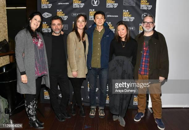 Lisa Leeman Talal Derki Alexandria Bombach Bing Liu Sandi Tan and Morgan Neville attend the Film Independent Directors CloseUp Another Type Of...