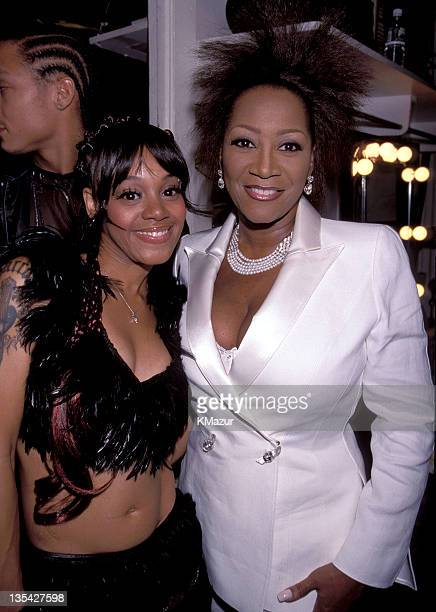 Lisa Left Eye Lopes and Patti LaBelle photographed during the Essence Awards Lopes was killed in a car crash in the Honduras April 25 2002