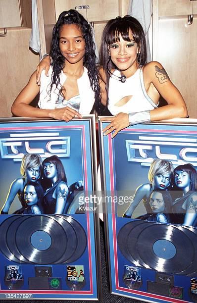 Lisa Left Eye Lopes and Rozonda Chilli Thomas from TLC Lopes was killed in a car crash in the Honduras April 25 2002