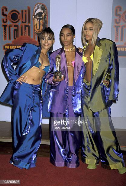 Lisa Left Eye Lopes Chilli and TBoz of TLC during 10th Annual Soul Train Music Awards at Shrine Auditorium in Los Angeles California United States