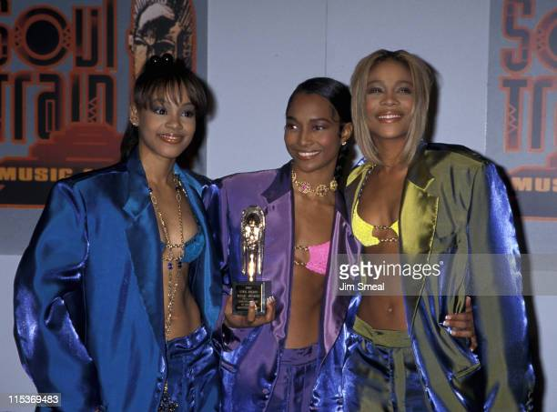 Lisa 'Left Eye' Lopes Chilli and TBoz of TLC during 10th Annual Soul Train Music Awards at Shrine Auditorium in Los Angeles California United States