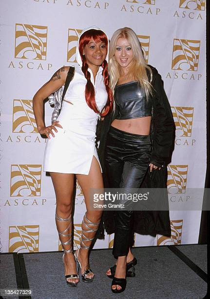 Lisa Left Eye Lopes Christina Aguilera at the 2000 ASCAP Pop Music Awards at the Beverly Hilton Hotel May 22 2000 Lopes was killed in a car crash in...