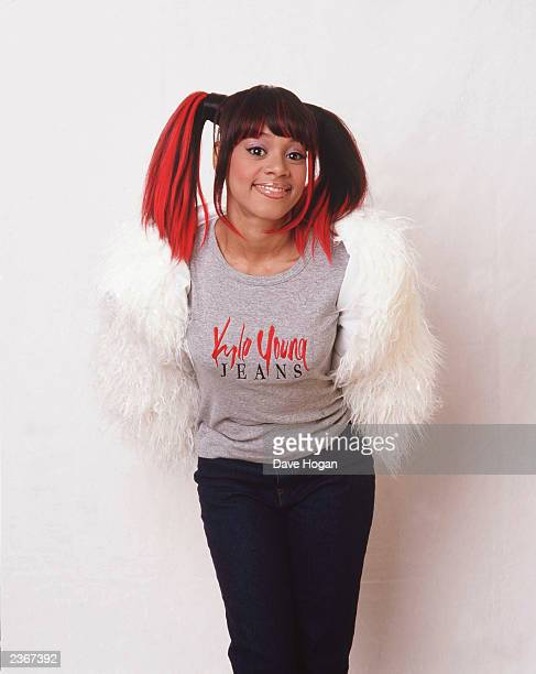 Lisa Left Eye Lopes from TLC with boyfriend Sean Norman taken in Elstree Hertfordshire England during a break from Filming Top of the Pops with Mel C...