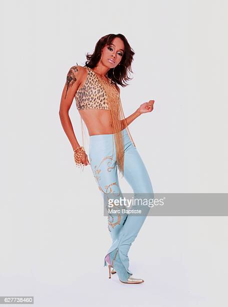 Lisa 'Left Eye' Lopes of the RB group TLC dances by herself