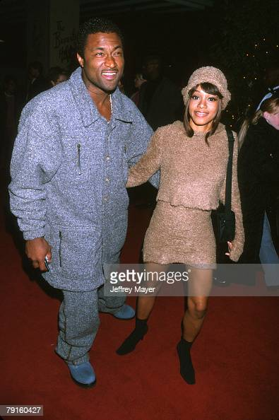 Lisa 'Left Eye' Lopes of TLC and Andre Rison at the Arista ...