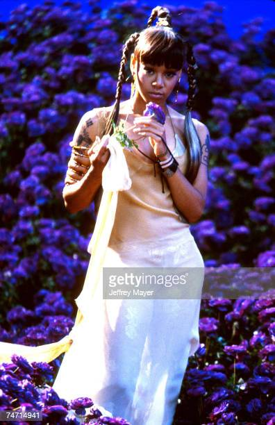 Lisa Left Eye Lopes of TLC at the filming of their video Unpretty in Valencia CA June 21 1999 Lopes was killed in a car crash in Honduras April 25...