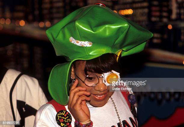 Lisa 'Left Eye' Lopes of TLC performs New York April 15 1992