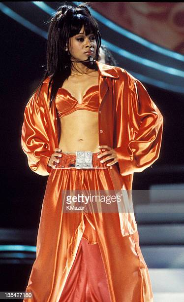 Lisa Left Eye Lopes photographed during Christina Aguilera and TLC at New York's Madison Square Garden Lopes was killed in a car crash in the...