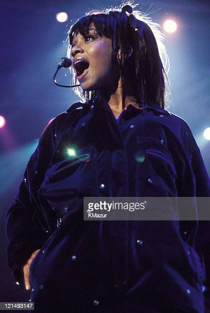 Lisa Left Eye Lopes photographed during Christina Aguilera and TLC Live at Madison Square Garden