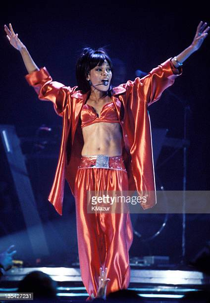 Lisa Left Eye Lopes photographed during Christina Aguilera and TLC Live at Madison Square Garden Lopes was killed in a car crash in the Honduras...