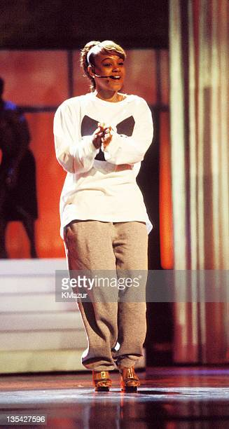 Lisa Left Eye Lopes photographed during the 1997 MTV Awards at New York's Radio City Music Hall Lopes was killed in a car crash in the Honduras April...