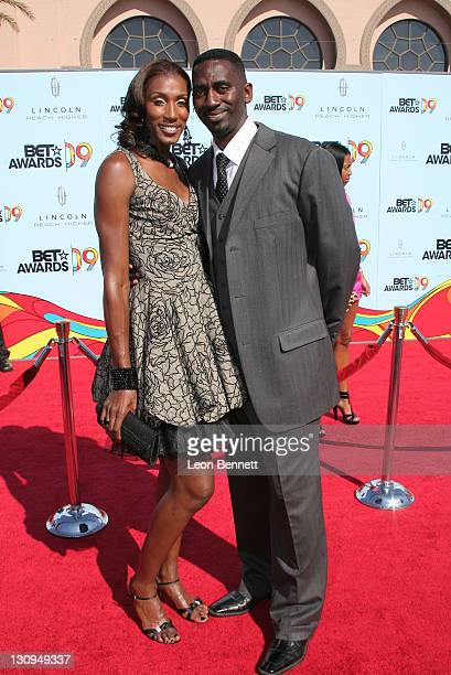 Lisa Leslie and Husband arrrives at 2009 BET Awards at The Shrine Auditorium on June 28 2009 in Los Angeles California