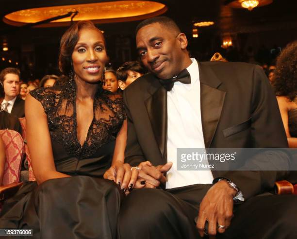 Lisa Leslie and Michael Lockwood attend BET Honors 2013 at Warner Theatre on January 12 2013 in Washington DC