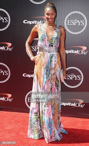 Lisa Leslie arrives at the 2014 ESPYS at Nokia Theatre L.A. Live on July 16, 2014 in Los Angeles, California.