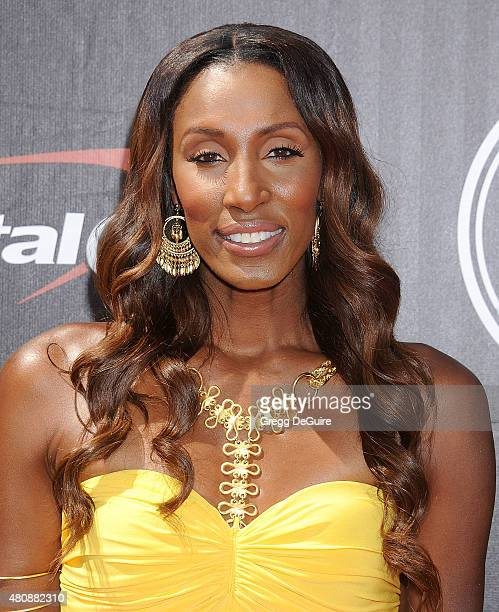 Lisa Leslie arrives at The 2015 ESPYS at Microsoft Theater on July 15 2015 in Los Angeles California