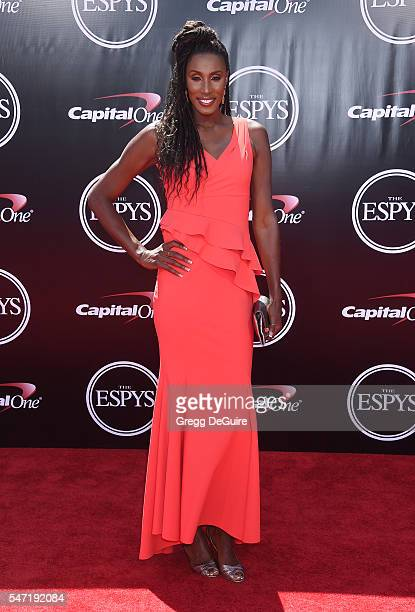Lisa Leslie arrives at The 2016 ESPYS at Microsoft Theater on July 13 2016 in Los Angeles California