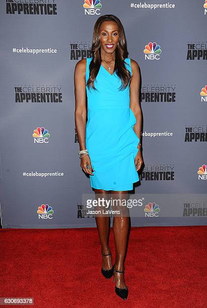 Lisa Leslie attends the press junket For NBC's 'Celebrity Apprentice' at The Fairmont Miramar Hotel Bungalows on January 28 2016 in Santa Monica...