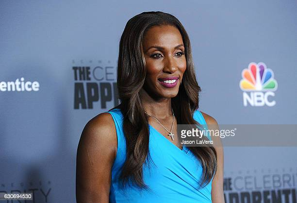 Lisa Leslie attends the press junket For NBC's Celebrity Apprentice at The Fairmont Miramar Hotel Bungalows on January 28 2016 in Santa Monica...