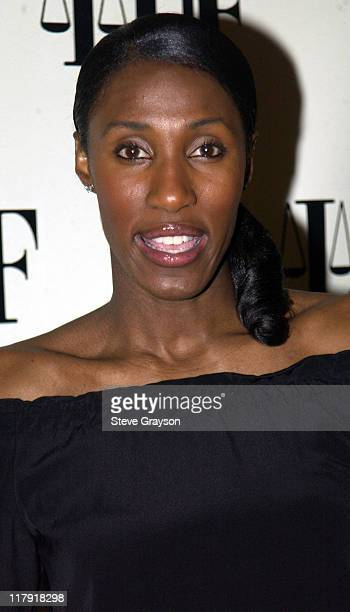 Lisa Leslie during NAACP Legal Defense Fund's Hank Aaron Humanitarian Award in Sports at The Beverly Hilton Hotel in Beverly Hills California United...