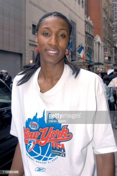 Lisa Leslie during Tom Cruise Michael Mann Lisa Leslie and Diana Taurisi Appear on Good Morning America at Good Morning America Studios in New York...