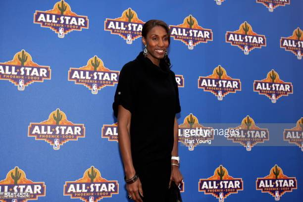 Lisa Leslie of the Los Angeles Sparks poses for a photo on the red carpet prior to the 2009 NBA AllStar Game on February 15 2009 at the US Airways...
