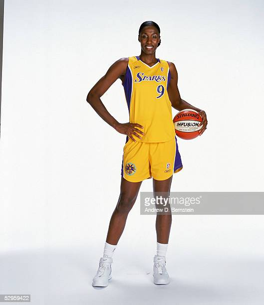 Lisa Leslie of the Los Angeles Sparks poses for a portrait on May 16 2005 in Los Angeles California NOTE TO USER User expressly acknowledges and...