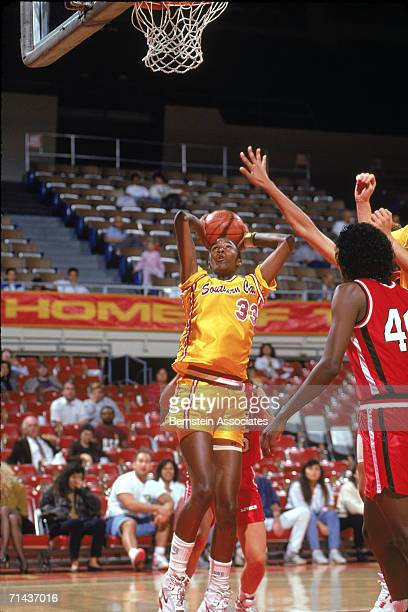 Lisa Leslie of the USC Ladie Trojans shoots during a December 1990 season game